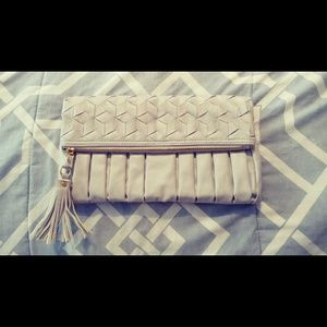 Gray Folded Clutch